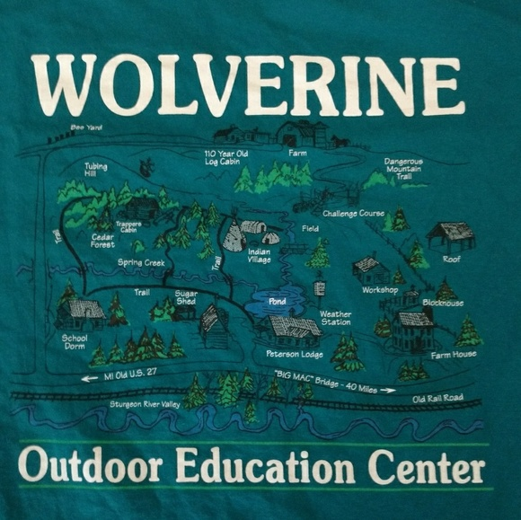 Vintage 90's Wolverine Outdoor Education T-Shirt